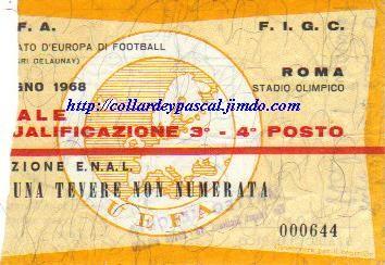 Euro 1968 en Italie, Finale 3/4émes Places