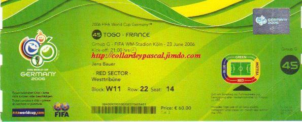 France  - Togo (Allemagne 2006)