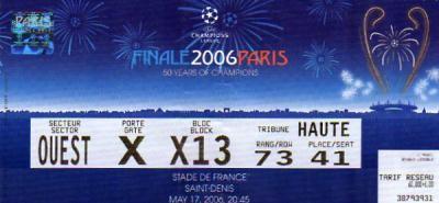 2006 à Paris :  FC Barcelone - Arsenal FC  2 - 1