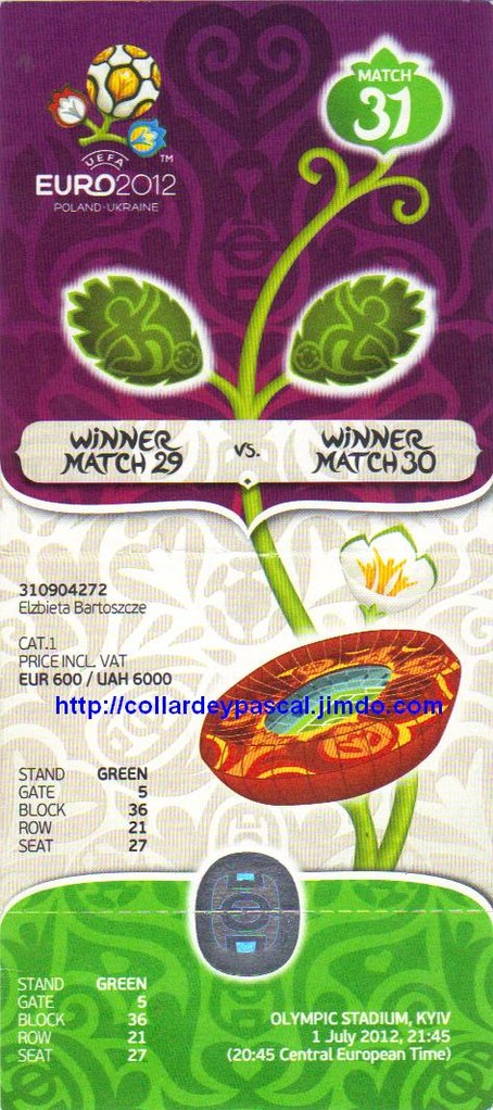 Finale Espagne - Italie Euro 2012