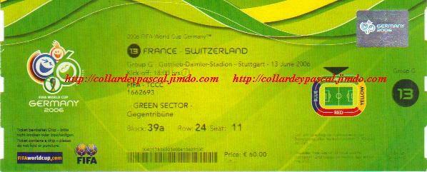 France  -  Suisse (Allemagne 2006)