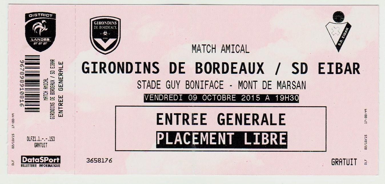 Girondins 0 - 5 SD Eibar