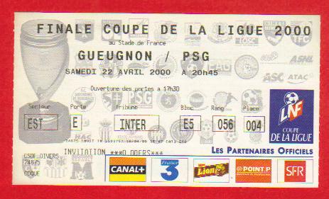 Finale 2000 FC Gueugnon 2 - 0 Paris SG