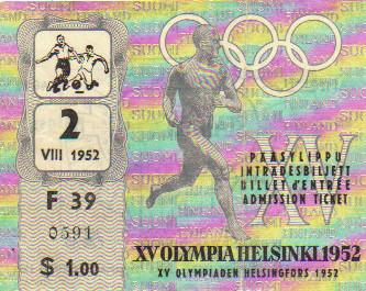 1952 Helsinski : FINALE Hongrie - Yougoslavie
