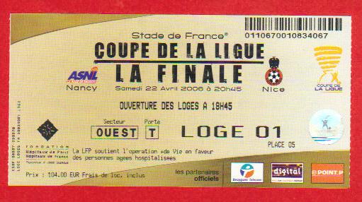 Finale 2006 AS Nancy Lorraine 2 - 1 OGC Nice