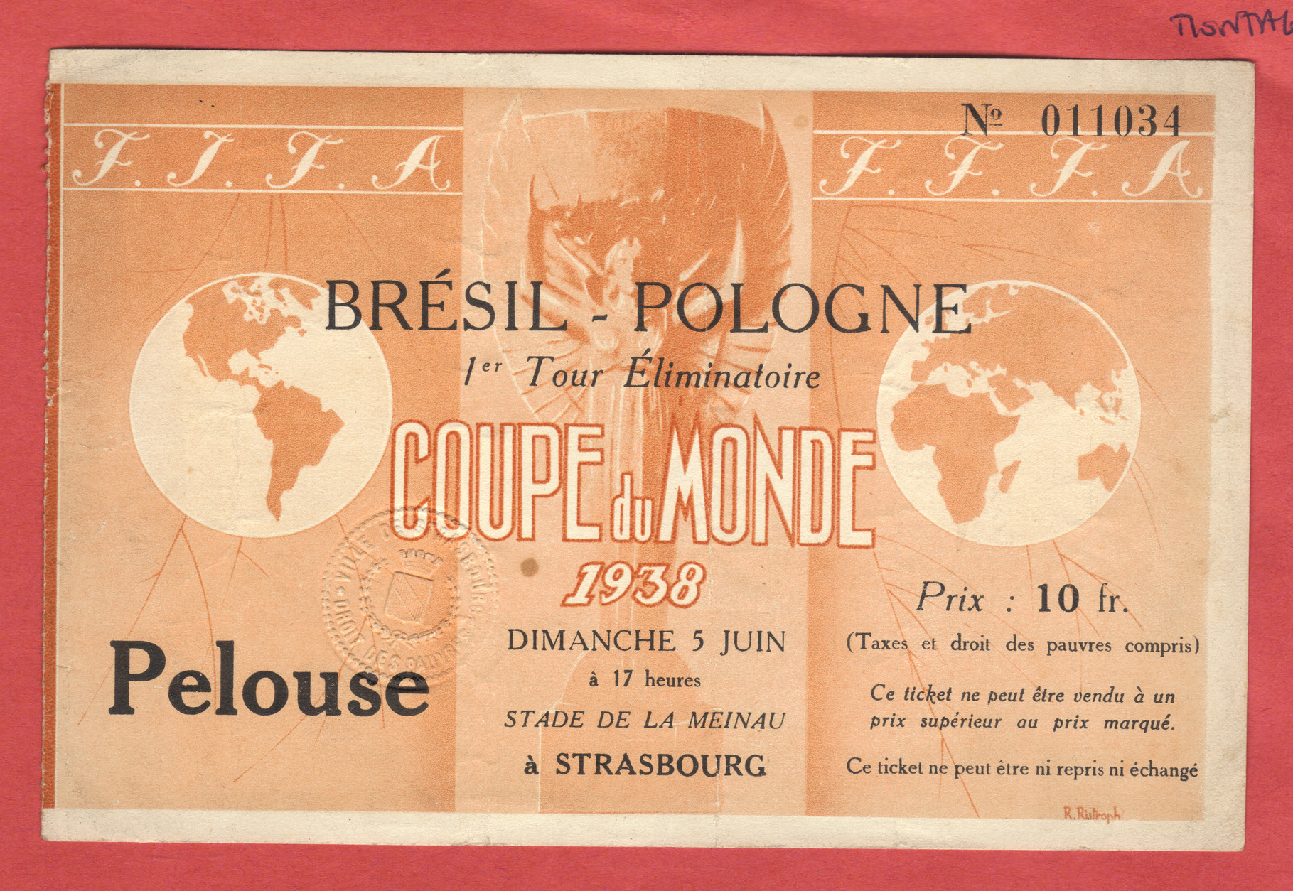 1/8 de Finale Brésil - Pologne (France 1938)