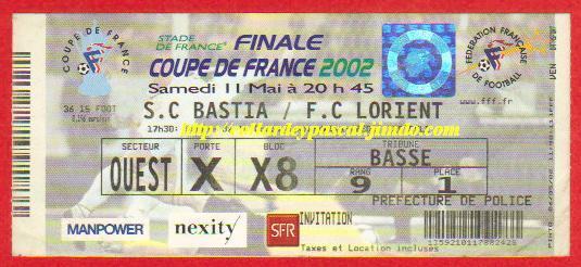 2002: FC Lorient bat SC Bastia 1 - 0
