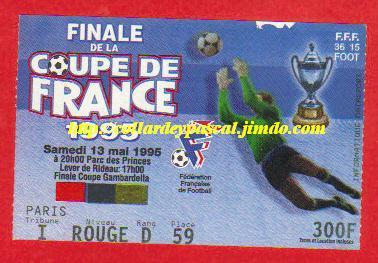 1995: Paris SG bat RC Strasbourg 1 - 0