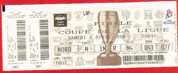 Finale 1998 Paris SG 2 - 2 (4-2 tab) Girondins Bordeaux