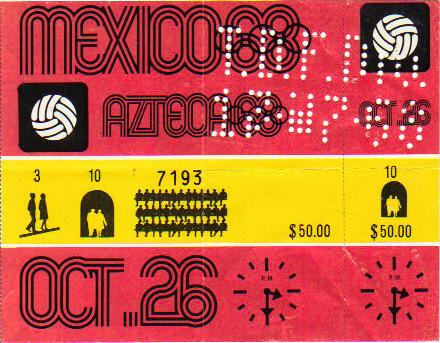 1968 Mexico : FINALE Hongrie- Bulgarie