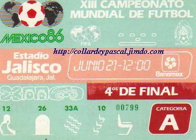 France  - Brésil 1/4 de Finale (Mexique 1986)