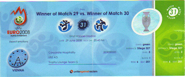 Finale Espagne - Allemagne Euro 2008