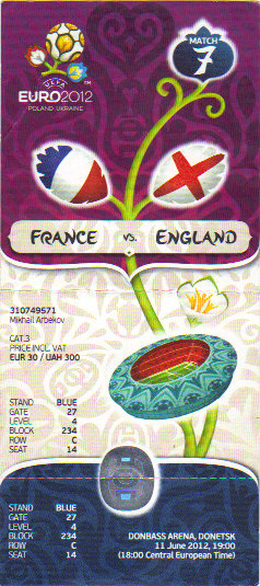 Euro 2012 : France - Angleterre