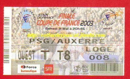 2003 : AJ Auxerre bat Paris SG 2 - 1r