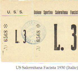 Match Hommage à benito Mussolini sous dictat Faciste