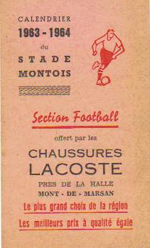 Calendrier saison 1963-64
