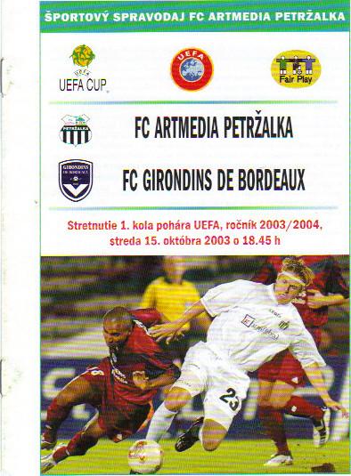 Petrzalska - Girondins Coupe Uefa