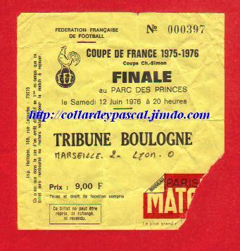 1976 : Ol. Marseille bat Ol. Lyon  2 - 0