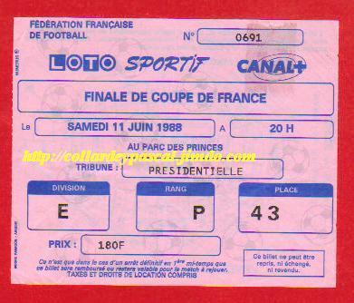 1988 : FC Metz bat FC Sochaux 1 - 1 tab