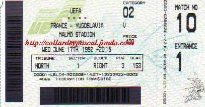 Euro 1992 : France - Danemark, le Danemark remplaçant la Yougoslaviel