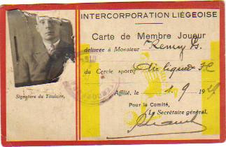 Licence Standard Liége années 1920
