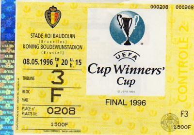 1996 à Bruxelles : Paris SG - Rapid Vienne 1 - 0