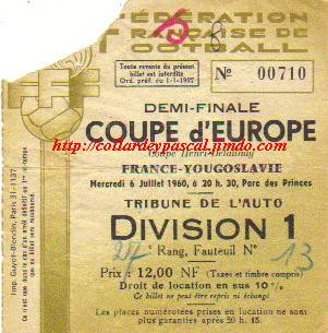 Euro 1960 : France - Yougoslavie