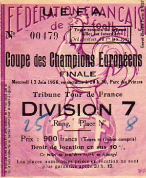 1956 à Paris :  Réal Madrid - Stade de Reims  4 - 3