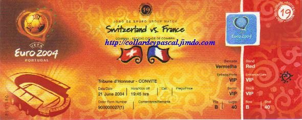 Euro 2004 : France - Suisse
