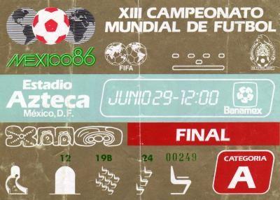Finale Coupe du Monde 1986 : Argentine - Allemagne (Mexique)