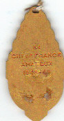 Unique : Verso Médaille de 3éme Championnat de France Amateur 1948/49