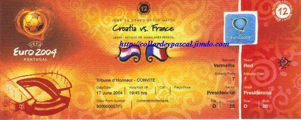 Euro 2004 : France - Croatie