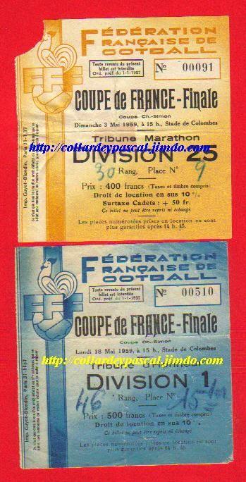 1959  Le Havre AC  bat  FC Sochaux M  2 - 2 puis 3 - 0 sur Finale rejouée