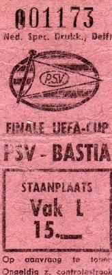 1978 :  PSV Eindhoven - SEC Bastia  3 - 0