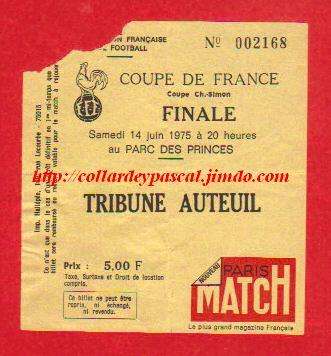 1975 : AS St Etienne bat RC Lens  2 - 0