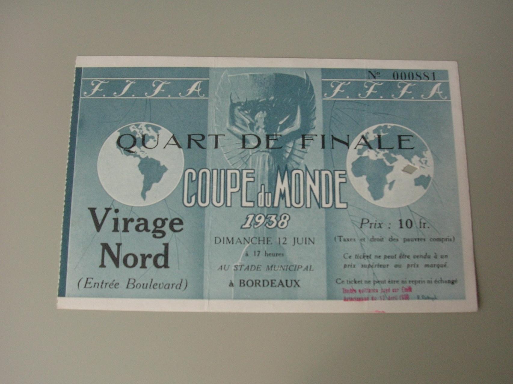 1/4 de Finale Brésil - Tchécoslovaquie (France 1938)