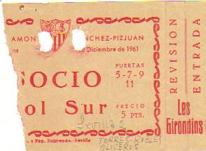 ??/12/1961 FC Séville - Girondins 2/0