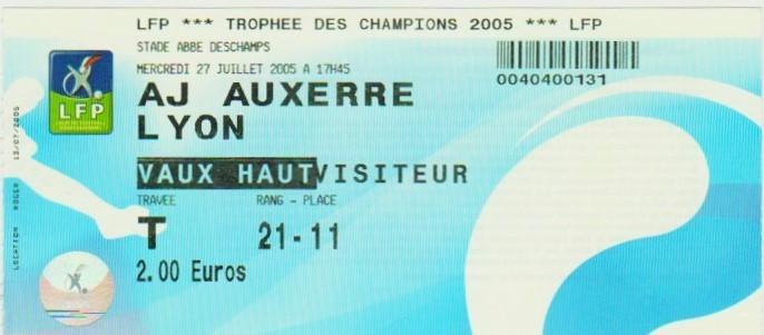 2005 à Auxerre : Ol. Lyonnais bat AJ Auxerre 4 - 1
