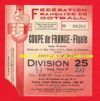 1962  AS St Etienne  bat  FC Nancy  1 - 0