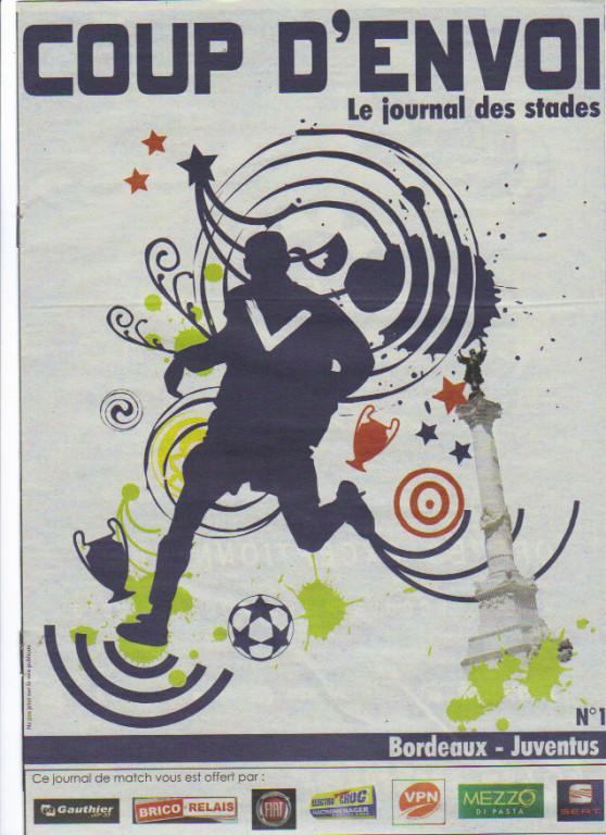 Girondins - Juventus Turin (Programme 2)