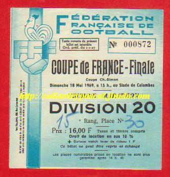 1969 : Ol. Marseille bat G. Bordeaux  2 - 0