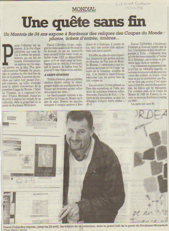 Pascal Collardey 1998 Sud Ouest