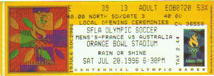 1996 Atlanta: France - Australie