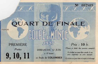 1/4 de Finale France - Italie (France 1938)