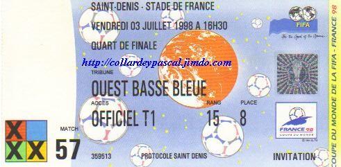 France  - Italie 1/4 de Finale (France 1998)