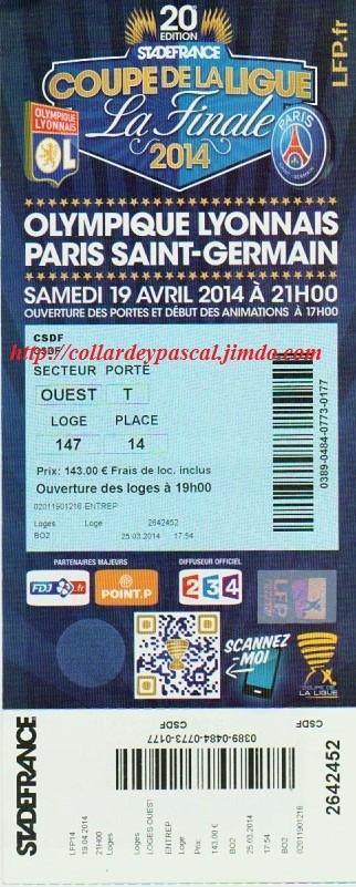 Finale 2014  Paris SG 2 - 1 Olympique Lyonnais