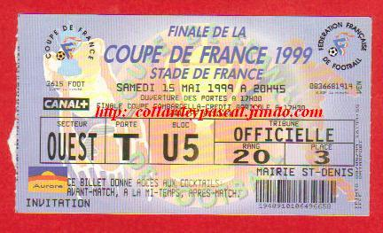 1999 : FC Nantes bat SC Sedan 1 - 0