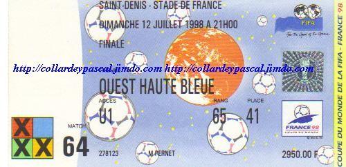 Finale France - Brésil (France 1998) La France est Championne du Monde