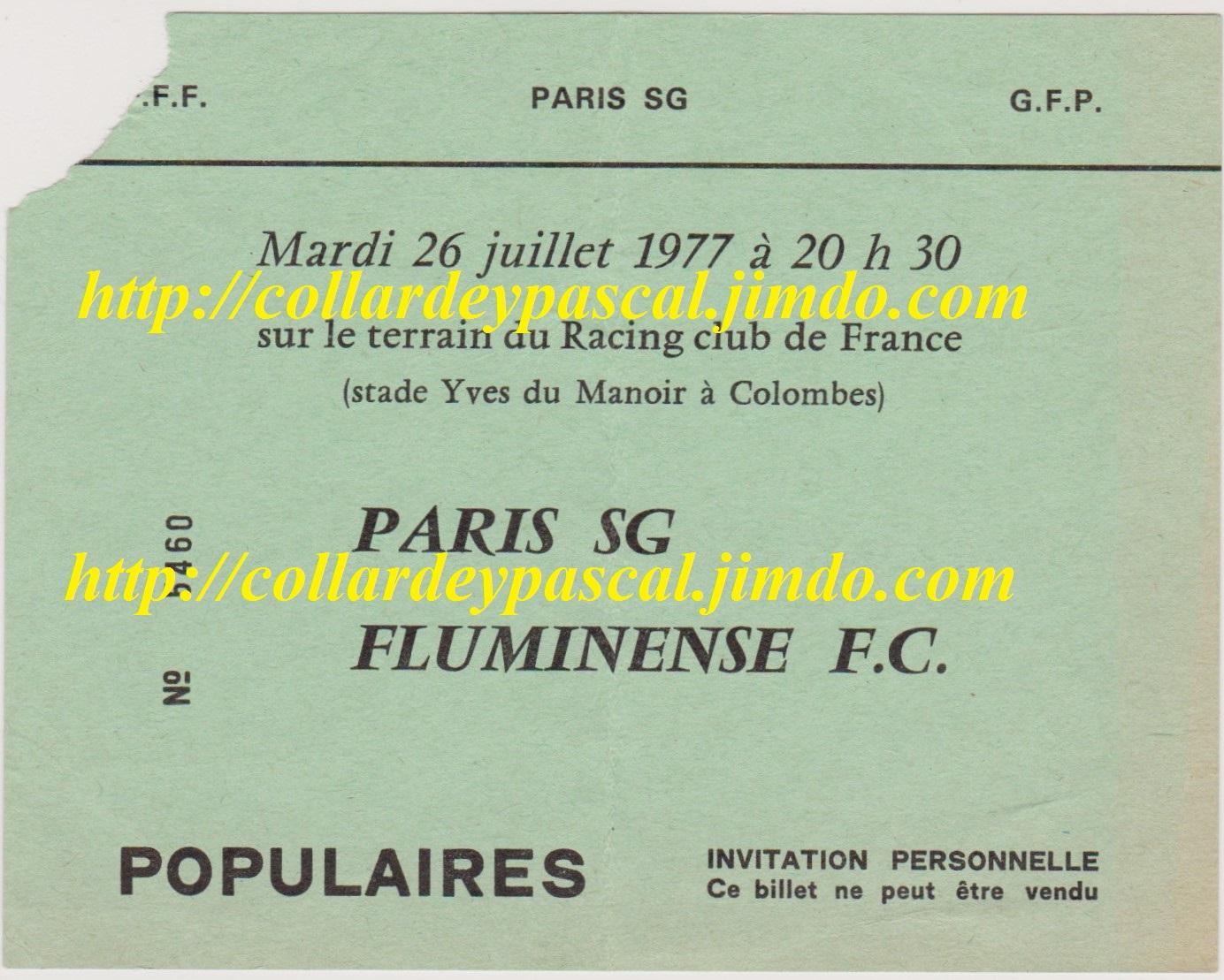 Paris SG  1 - 1  Fluminense FC (Buts de Bianchi - Doval)