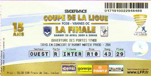Finale 2009 G Bordeaux 4 - 0 Vannes OC